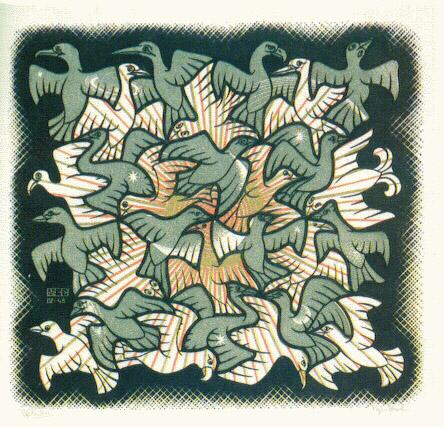 birds mc escher